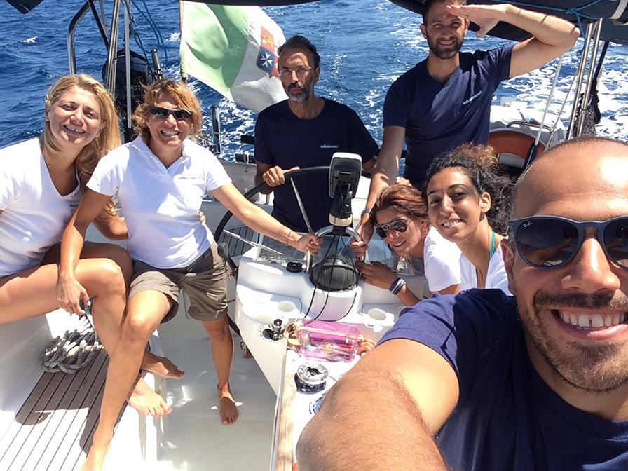 Marina, Alessandra, Oreste, Noemi, Giancarlo, Corrado