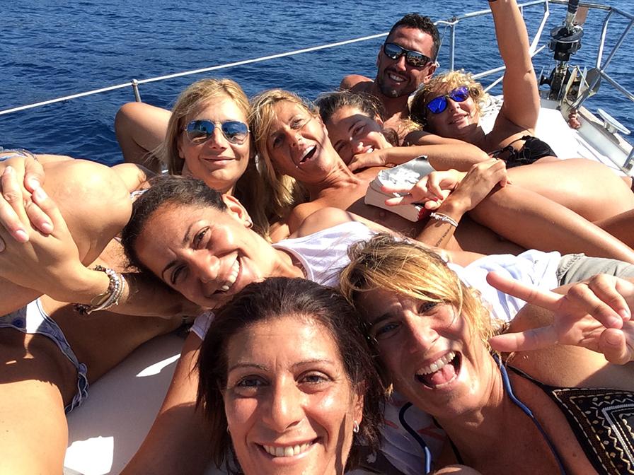 Marina, Daniela, Marilù, Albina, Marcello, Simona Alessandra